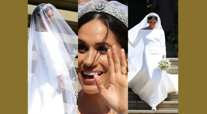 Royal Wedding 2018: Duchess Meghan Markle in @Givenchy dress by Clare Waight Keller #NCJLifestylesAndFashion